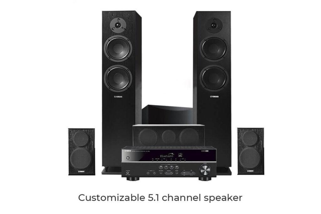 Customizable 5.1 channel speaker